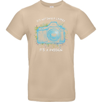 FilmenLernen.de It's not only a Camera T-Shirt B&C EXACT 190 - Sand