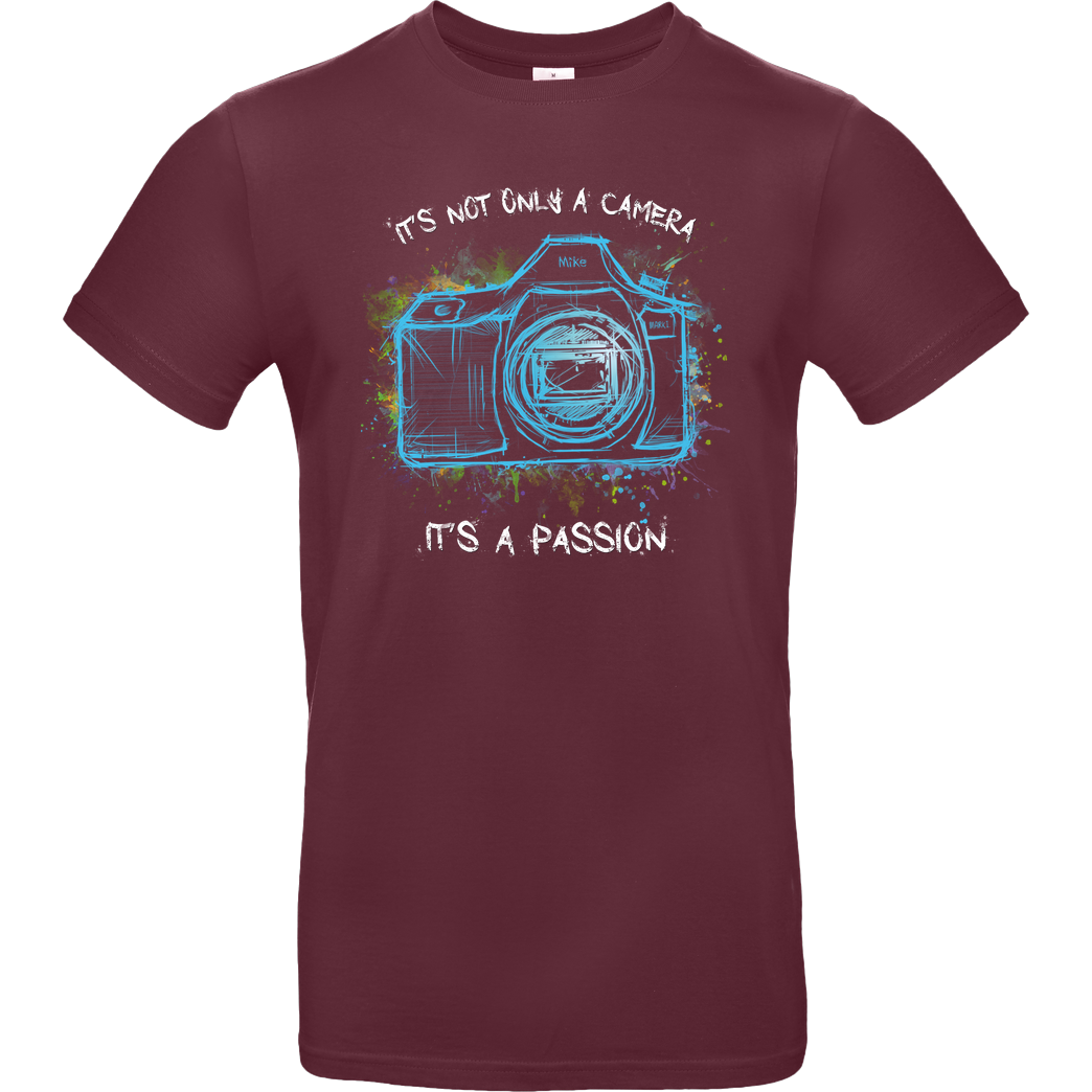 FilmenLernen.de It's not only a Camera T-Shirt B&C EXACT 190 - Burgundy