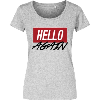 Der Keller Der Keller - Hello Again Red T-Shirt Damenshirt heather grey