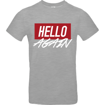 Der Keller - Hello Again Red B&C EXACT 190 - heather grey
