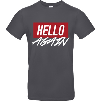 Der Keller Der Keller - Hello Again Red T-Shirt B&C EXACT 190 - Dark Grey