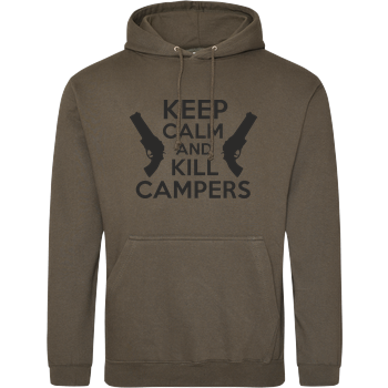 Keep Calm and Kill Campers JH Hoodie - Khaki