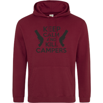 Keep Calm and Kill Campers JH Hoodie - Bordeaux