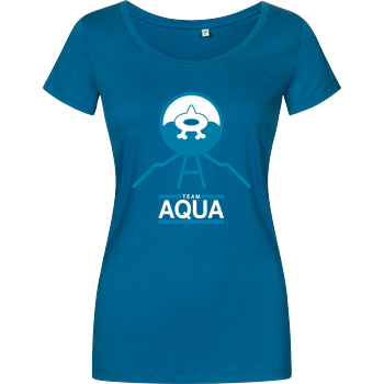 Team Aqua Girlshirt petrol
