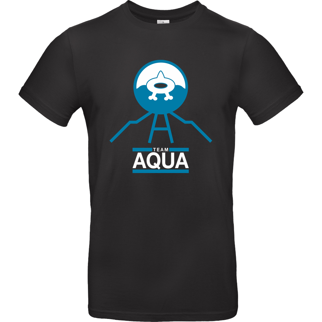 bjin94 Team Aqua T-Shirt B&C EXACT 190 - Black