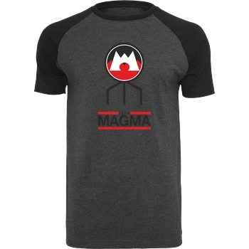 bjin94 Team Magma T-Shirt Raglan Tee dark heather grey