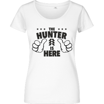 bjin94 The Hunter is Here T-Shirt Damenshirt weiss