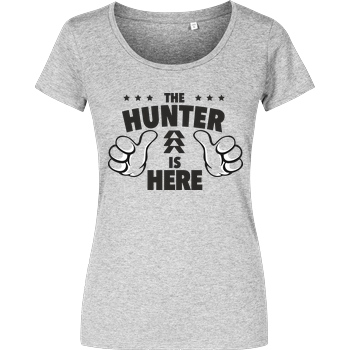 bjin94 The Hunter is Here T-Shirt Girlshirt heather grey