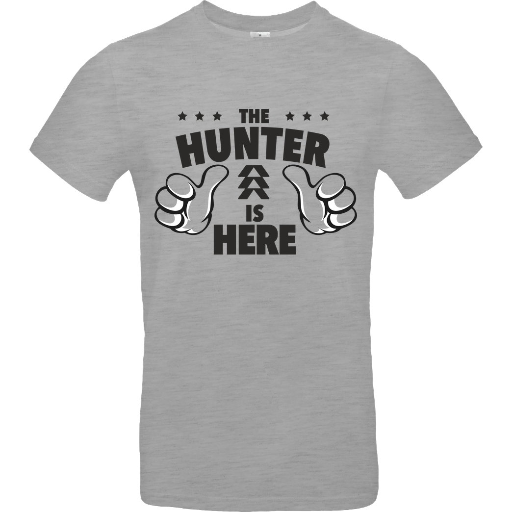 bjin94 The Hunter is Here T-Shirt B&C EXACT 190 - heather grey