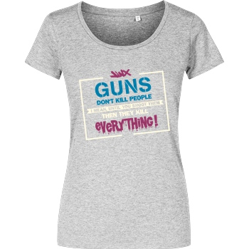 IamHaRa Guns don't Kill People T-Shirt Girlshirt heather grey