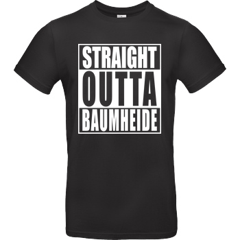 None Straight Outta Baumheide T-Shirt B&C EXACT 190 - Black