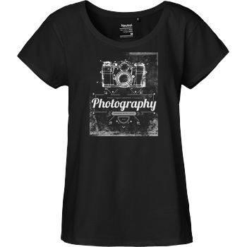 FilmenLernen.de What is photography T-Shirt Fairtrade Loose Fit Girlie - black