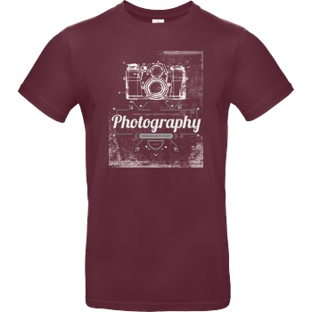 FilmenLernen.de What is photography T-Shirt B&C EXACT 190 - Burgundy