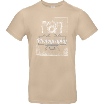 FilmenLernen.de What is photography T-Shirt B&C EXACT 190 - Sand