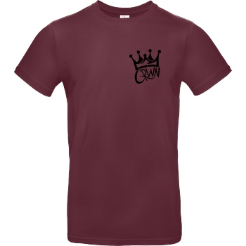 KillaPvP KillaPvP - Crown T-Shirt B&C EXACT 190 - Bordeaux