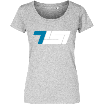 Tisi - Logo Girlshirt heather grey