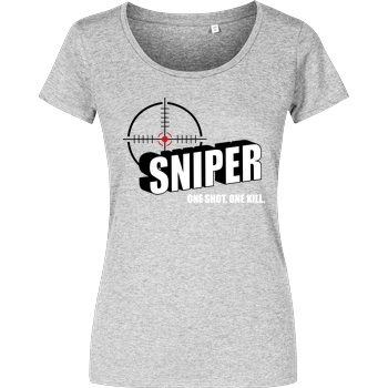 bjin94 One Shot One Kill T-Shirt Girlshirt heather grey