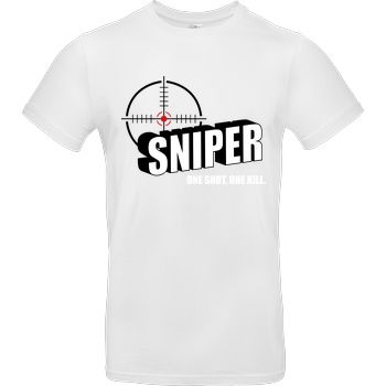 bjin94 One Shot One Kill T-Shirt B&C EXACT 190 -  White