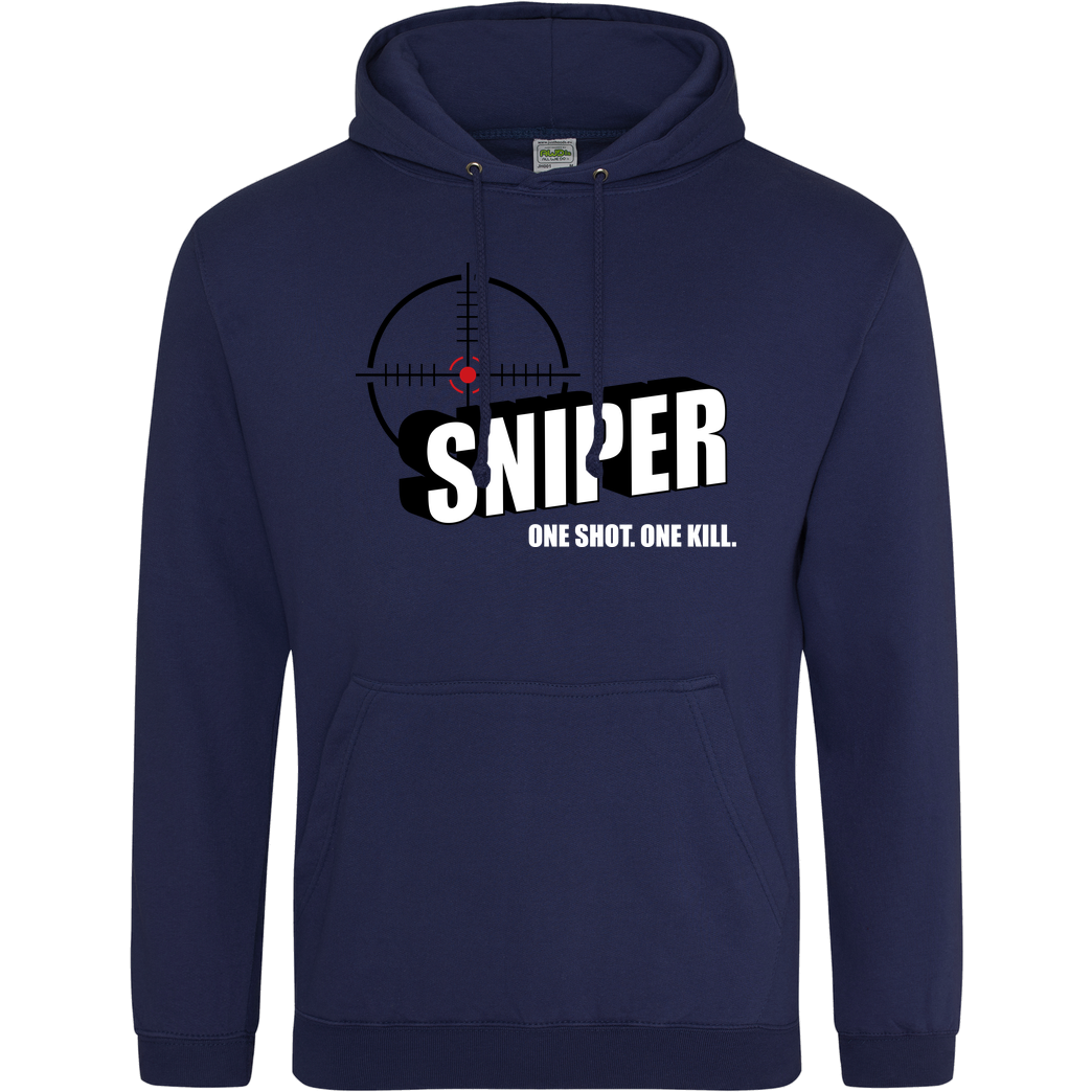 bjin94 One Shot One Kill Sweatshirt JH Hoodie - Navy
