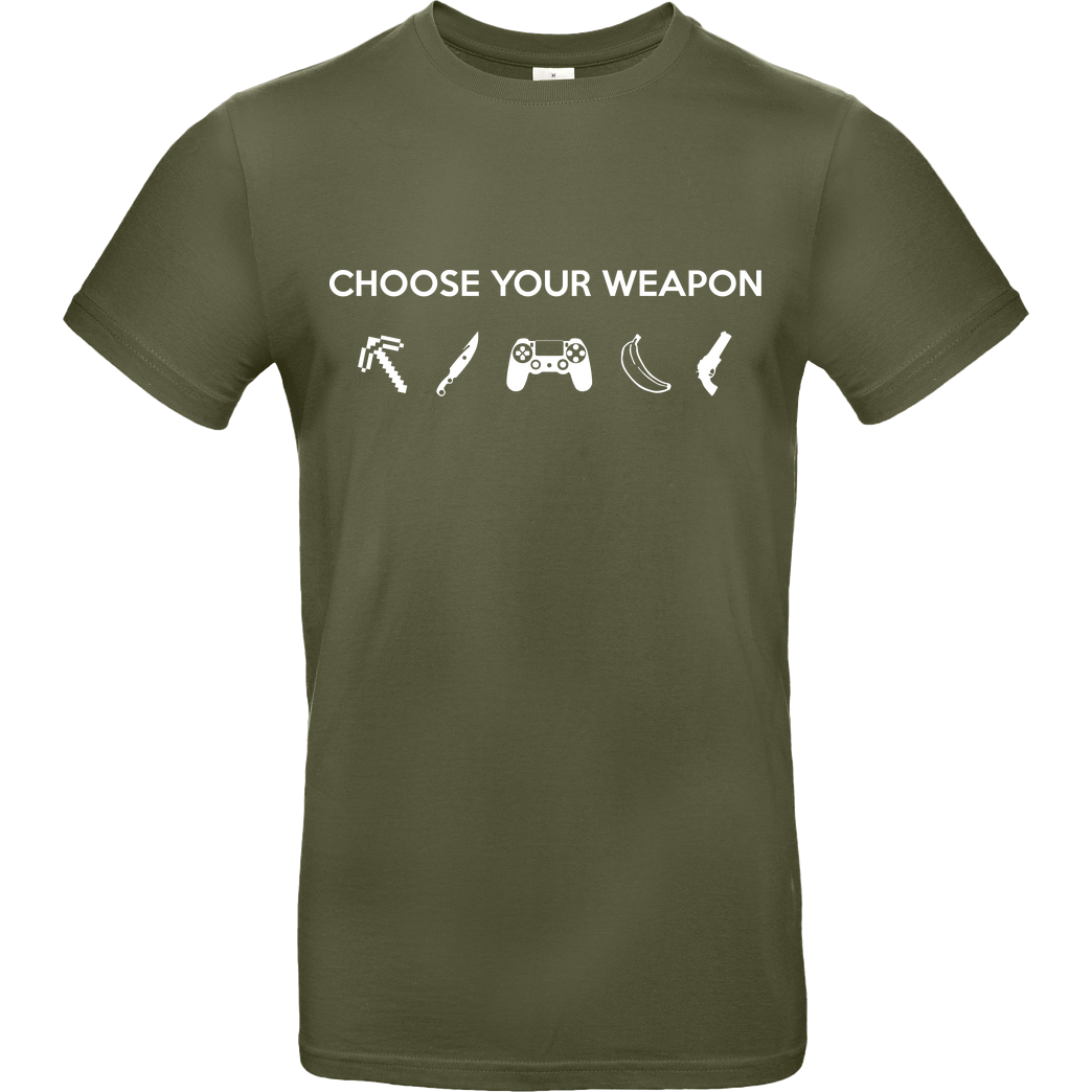 bjin94 Choose Your Weapon v1 T-Shirt B&C EXACT 190 - Khaki