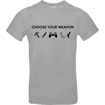 Choose Your Weapon v1 B&C EXACT 190 - heather grey
