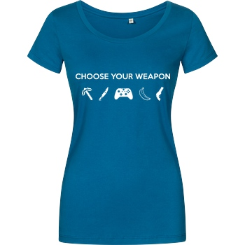 bjin94 Choose Your Weapon v2 T-Shirt Damenshirt petrol