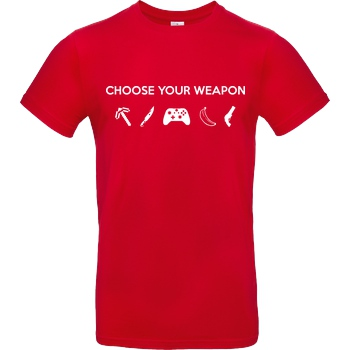bjin94 Choose Your Weapon v2 T-Shirt B&C EXACT 190 - Red