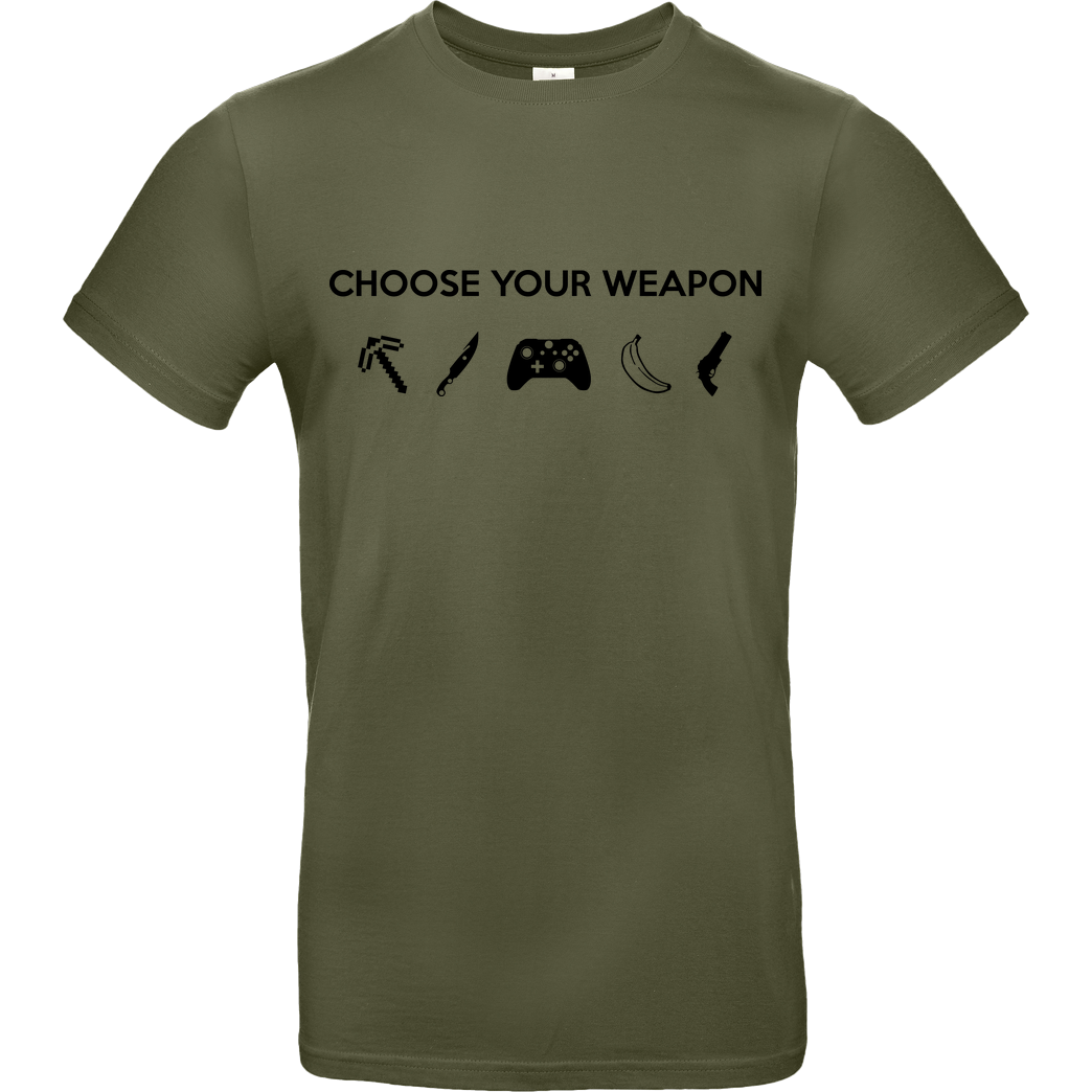 bjin94 Choose Your Weapon v2 T-Shirt B&C EXACT 190 - Khaki