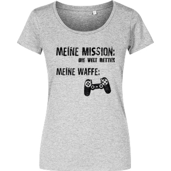 bjin94 Meine Mission v1 T-Shirt Damenshirt heather grey