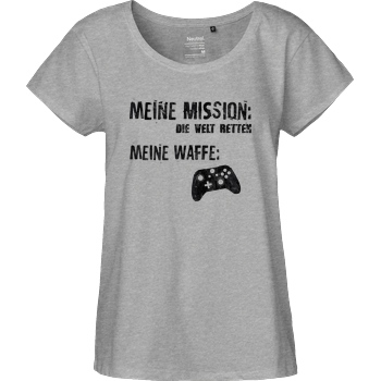 bjin94 Meine Mission v2 T-Shirt Fairtrade Loose Fit Girlie - heather grey