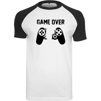 bjin94 Game Over v1 T-Shirt Raglan Tee white