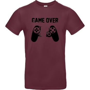 bjin94 Game Over v1 T-Shirt B&C EXACT 190 - Bordeaux