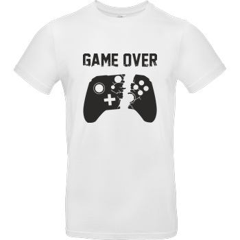 bjin94 Game Over v2 T-Shirt B&C EXACT 190 -  White