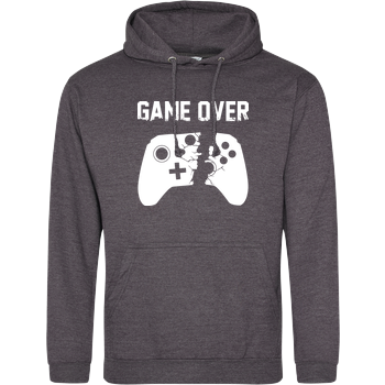 Game Over v2 JH Hoodie - Dark heather grey