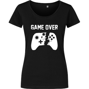 Game Over v2 Damenshirt schwarz