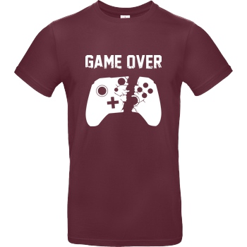 bjin94 Game Over v2 T-Shirt B&C EXACT 190 - Bordeaux