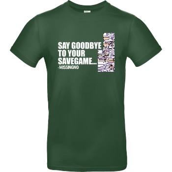 IamHaRa Goodbye Savegame - Missingno T-Shirt B&C EXACT 190 -  Bottle Green