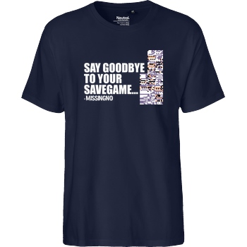 IamHaRa Goodbye Savegame - Missingno T-Shirt Fairtrade T-Shirt - navy