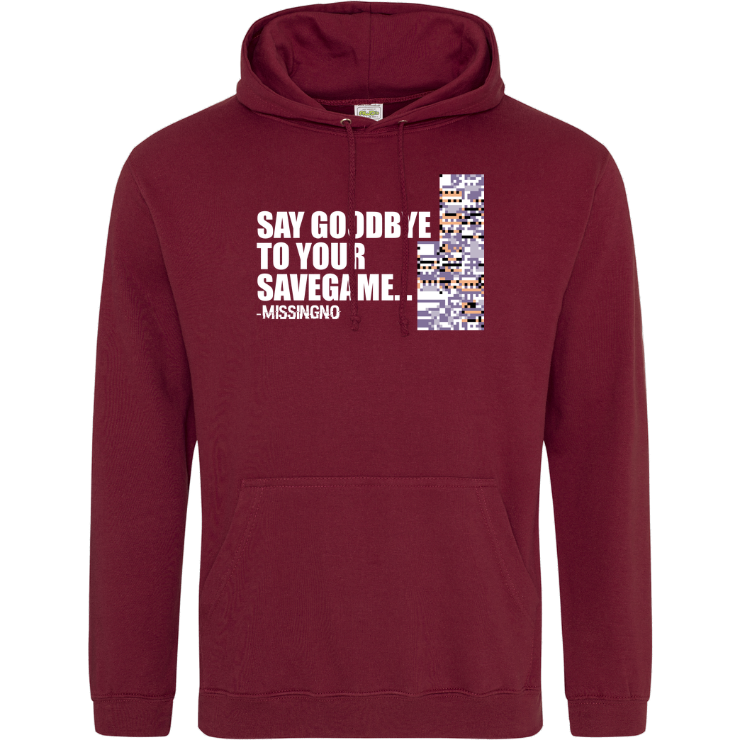 Dominik_RC Goodbye Savegame - Missingno Sweatshirt JH Hoodie - Bordeaux