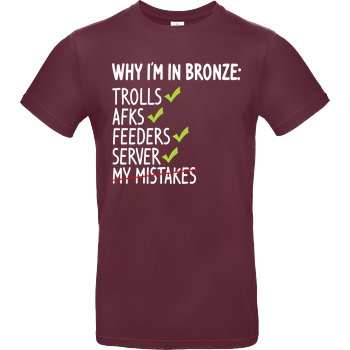 IamHaRa Why i'm bronze T-Shirt B&C EXACT 190 - Burgundy