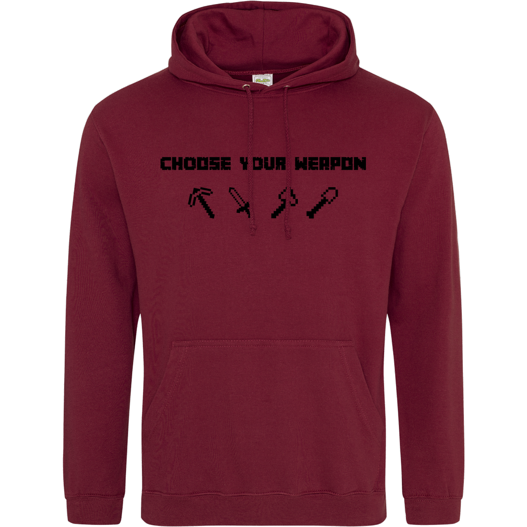 bjin94 Choose Your Weapon MC-Edition Sweatshirt JH Hoodie - Bordeaux