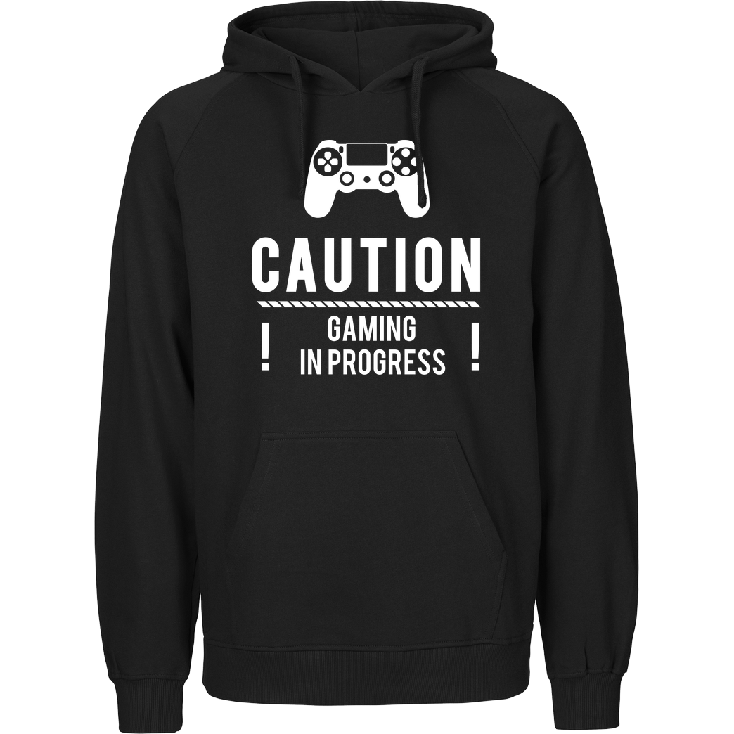 bjin94 Caution Gaming v1 Sweatshirt Fairtrade Hoodie