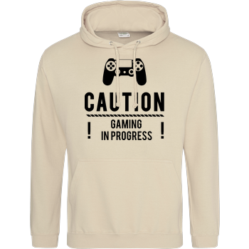 Caution Gaming v1 JH Hoodie - Sand