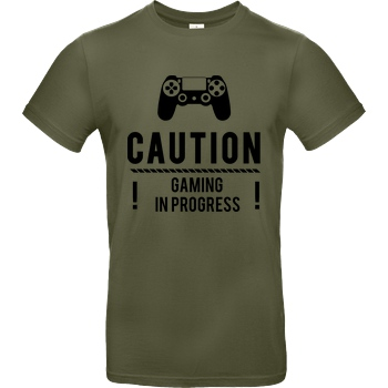 bjin94 Caution Gaming v1 T-Shirt B&C EXACT 190 - Khaki