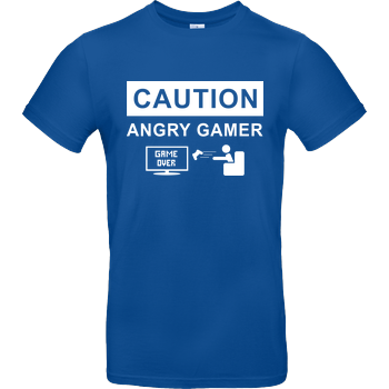 Caution! Angry Gamer B&C EXACT 190 - Royal Blue