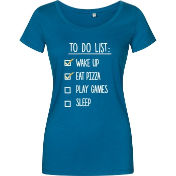bjin94 To Do List T-Shirt Damenshirt petrol
