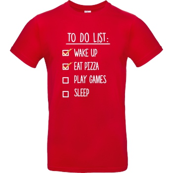 bjin94 To Do List T-Shirt B&C EXACT 190 - Rot