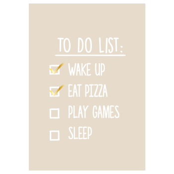 To Do List Art Print sand