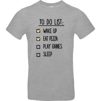 bjin94 To Do List T-Shirt B&C EXACT 190 - heather grey