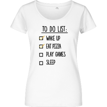 bjin94 To Do List T-Shirt Damenshirt weiss